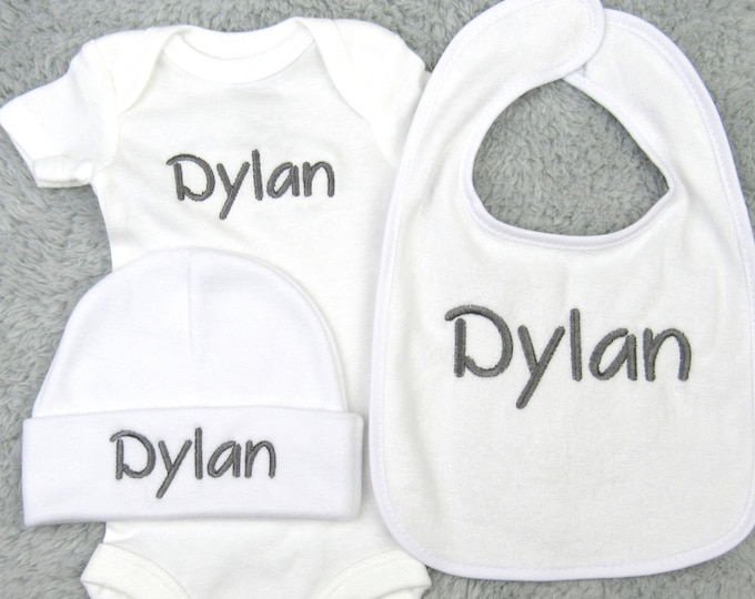 Personalized baby gift set