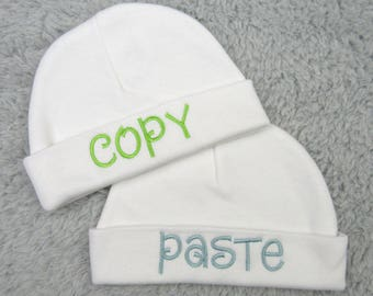 Baby twins hats for identical twins - copy paste