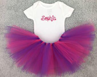 Baby bodysuit and tutu