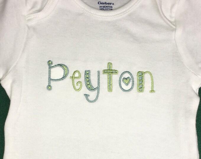 Personalized baby bodysuit - personalized toddler shirt - newborn gift first birthday gift newborn photo prop custom baby t-shirt name shirt