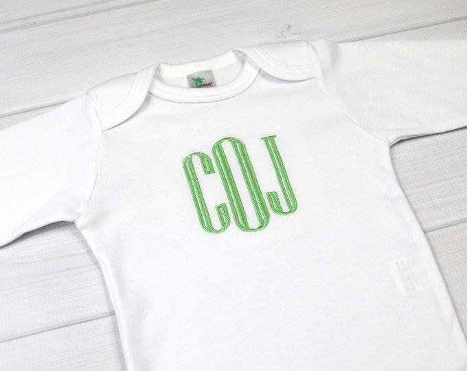 Monogrammed baby bodysuit - preemie / newborn / 0-3 months / 3-6 months
