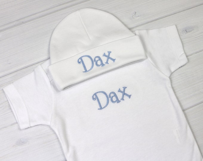 Personalized baby outfit - preemie / newborn / 0-3 months / 3-6 months