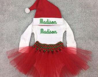 Preemie girl Christmas outfit