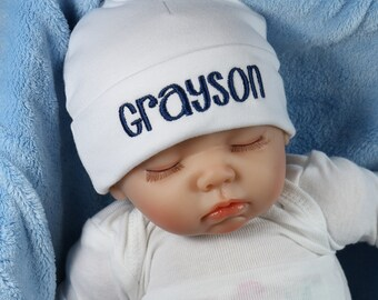 9360802ad69 Personalized baby hat - micro preemie   preemie   newborn   0-3 months    3-6 months