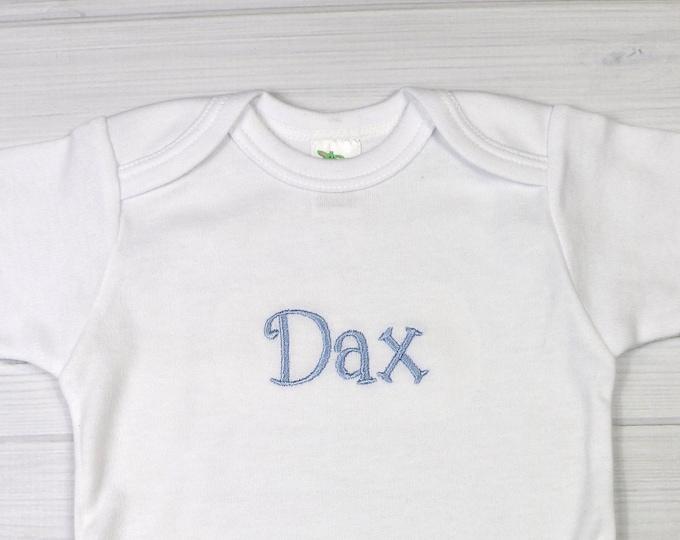 Personalized baby bodysuit - preemie / newborn / 0-3 months / 3-6 months