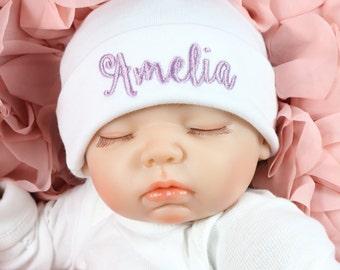 Personalized baby beanie - micro preemie / preemie / newborn / 0-3 months / 3-6 months