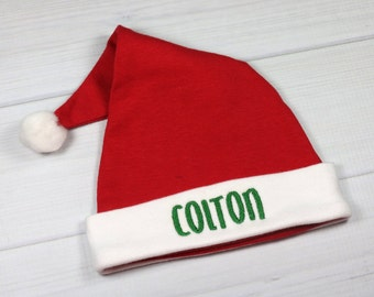 Personalized Santa hat for baby - micro preemie / preemie / newborn / large newborn