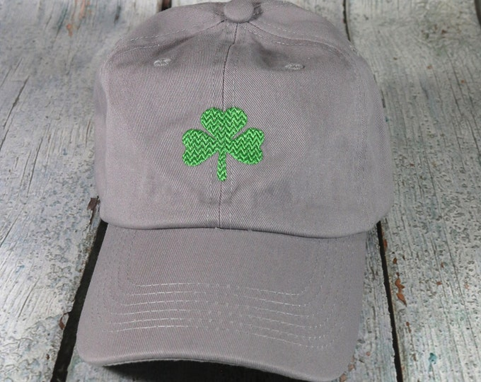 Shamrock embroidered baseball hat - cotton adjustable dad hat, embroidered baseball cap, Saint Patrick's Day hat, Irish cap