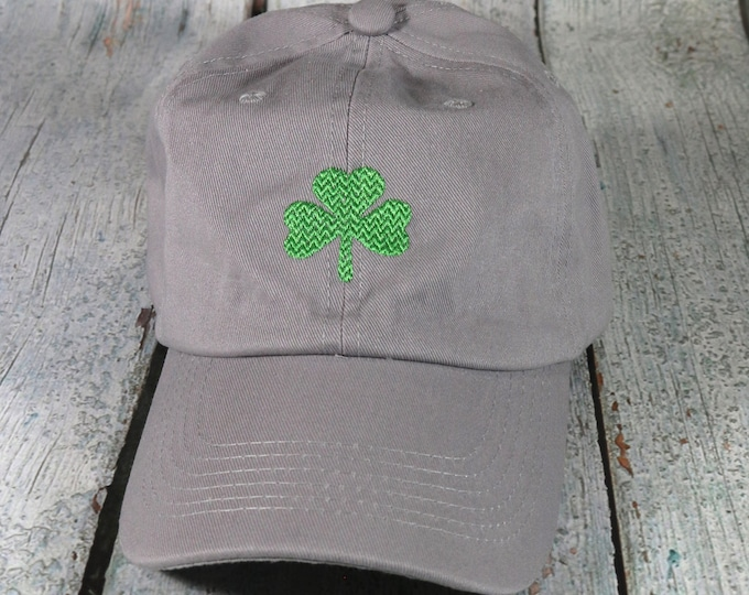 Shamrock embroidered baseball hat - cotton adjustable dad hat, embroidered baseball cap, Saint Patrick's Day hat, Irish cap