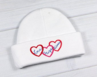 Baby hat - Love, Hugs, Kisses