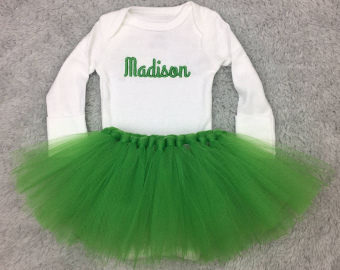 Personalized newborn outfit with tutu
