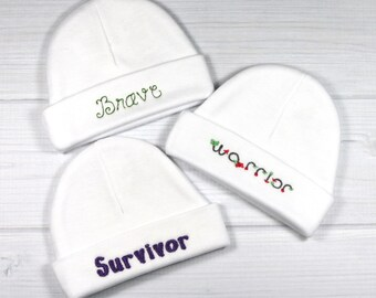 Baby hat set for the NICU or PICU
