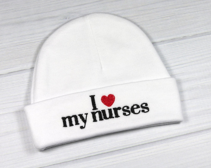 Baby hat for the NICU or PICU - I love my nurses