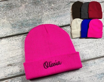 Personalized kids winter hat 2-6 years old