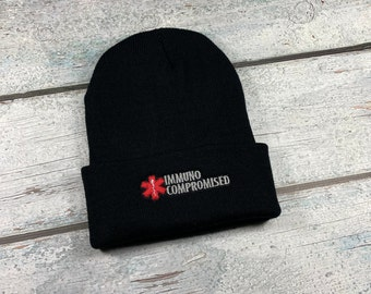 Immuno-compromised adult embroidered hat