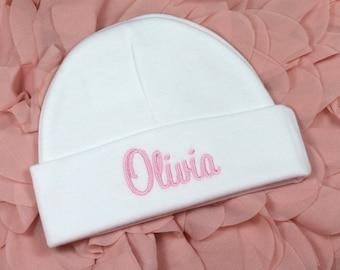 Personalized baby hat - micro preemie / preemie / newborn / 0-3 months / 3-6 months