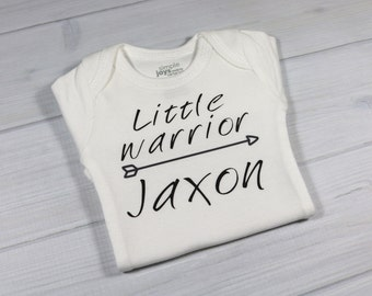 Personalized baby bodysuit - Little Warrior