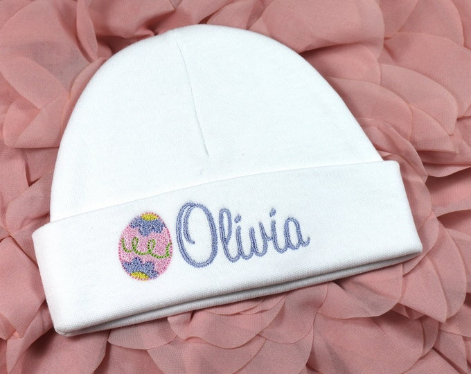 Personalized baby hat with Easter egg - micro preemie / preemie / newborn / 0-3 months / 3-6 months