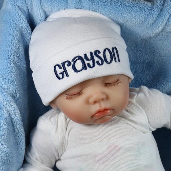Personalized baby hat micro preemie  preemie  newborn  0-3 months  3-6 months