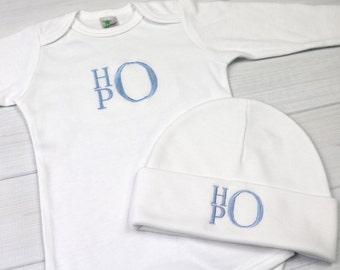Monogrammed baby outfit - preemie / newborn / 0-3 months / 3-6 months