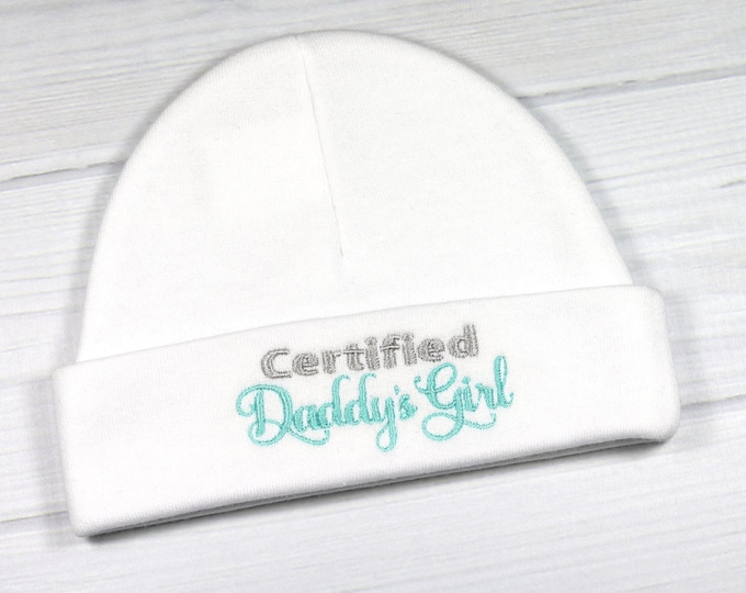 Baby girl hat - Certified Daddy's Girl