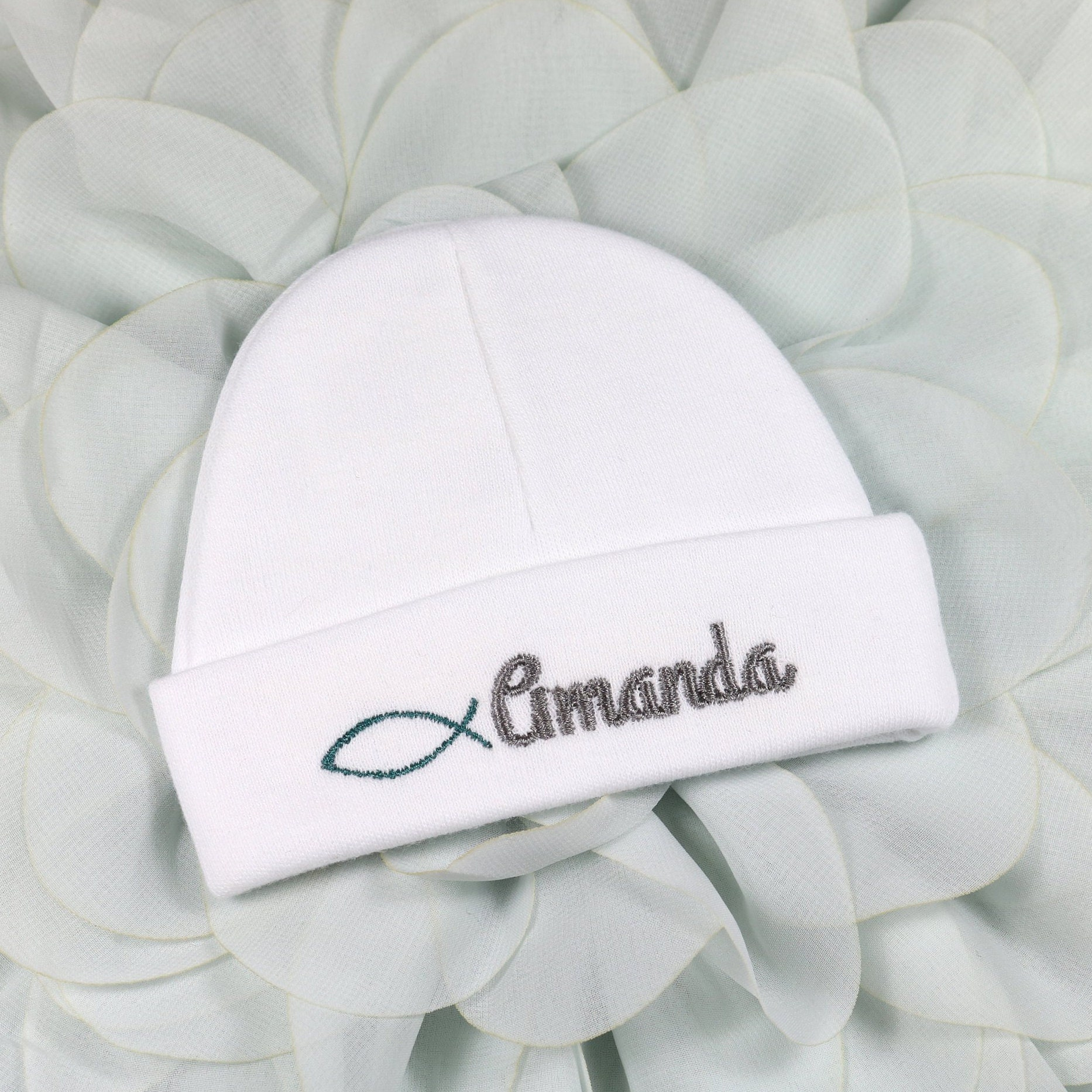 c3a584b02 Personalized baby hat - preemie / newborn / 0-3 months / 3-6 months.  gallery photo ...