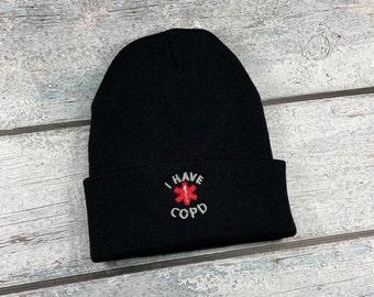 COPD med alert adult embroidered hat