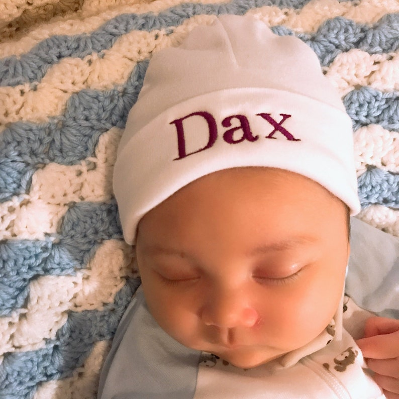 8f6002ec5128b Personalized baby hat micro preemie   preemie   newborn