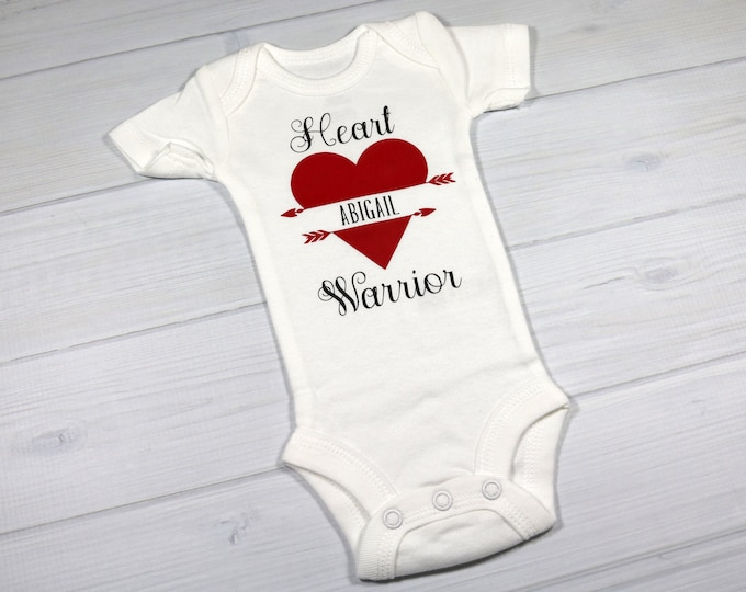 Personalized baby bodysuit - CHD Heart Warrior