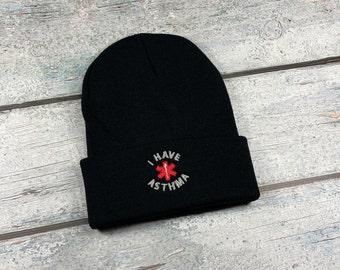Asthma med alert adult embroidered hat
