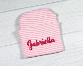 Baby hospital hat - personalized newborn beanie - personalized preemie hat