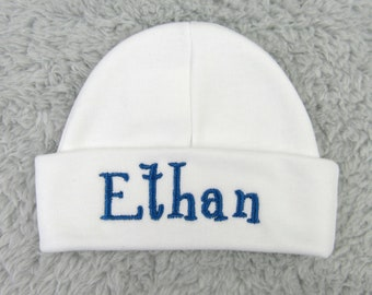 Custom baby beanie - personalized newborn hat - personalized preemie hat
