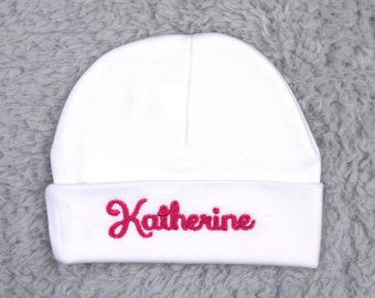 Personalized baby beanie - personalized newborn hat - personalized preemie hat - micro preemie hat