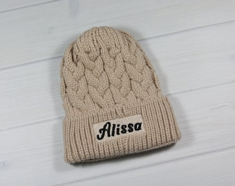 Personalized infant winter hat 0-12 months
