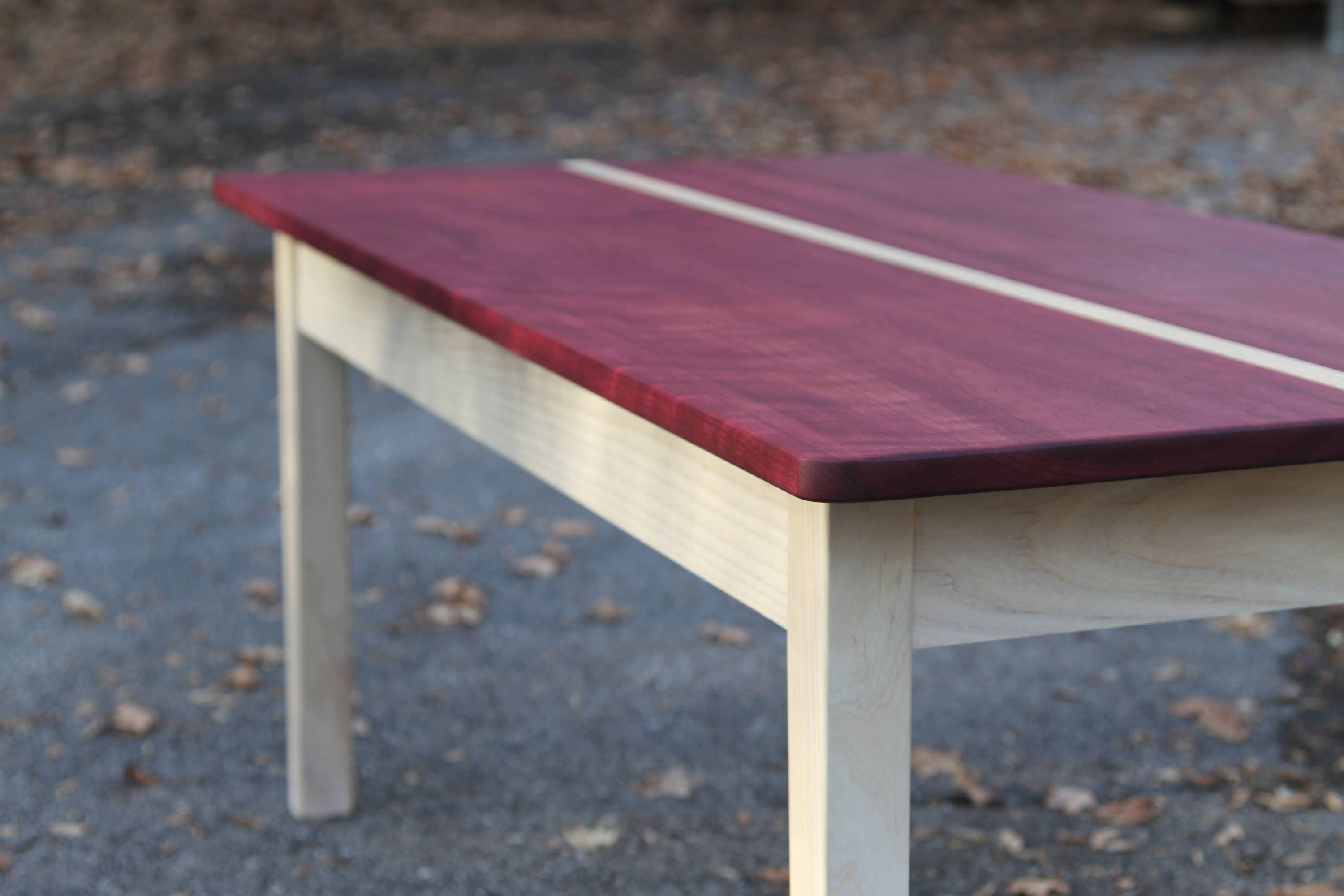 Outstanding Purpleheart Coffee Table White Washed Coffee Table Living Room Table Modern Coffee Table Colorado Made Tapered Legs Magazine Table Interior Design Ideas Gresisoteloinfo