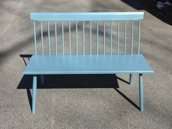 Pleasant Milk Painted Bench Spindle Back Bench Entry Bench Windsor Bench Dining Bench With Back Shaker Bench Restaurant Bench Colorado Made Inzonedesignstudio Interior Chair Design Inzonedesignstudiocom