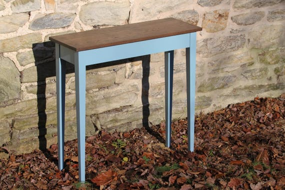 Milk Paint Sofa Table Shaker Console Table Hall Table Foyer Etsy