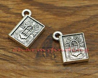 2 Flower of Life Charms Antique Gold Tone GC915