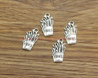 10 Fish Charms Antique Silver CS3339