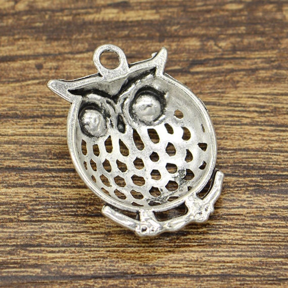 5Pcs Antiqued Silver Tone Lovely Animal Cat Charms Pendants 16x25mm