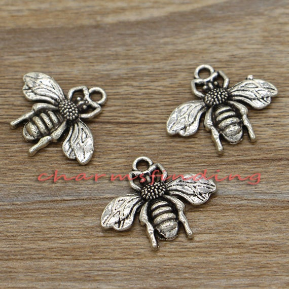 Wholesale retro Jewelry Making DIY Cute Lady beetle alloy charm pendant 11x8mm