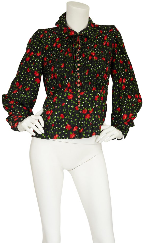 Frank Oujezdsky Haute Couture 1970s Vintage Black