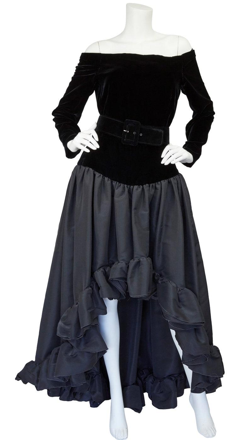 4805ce4dd37 Yves Saint Laurent 1988 Ad Campaign Black Silk Velvet & | Etsy