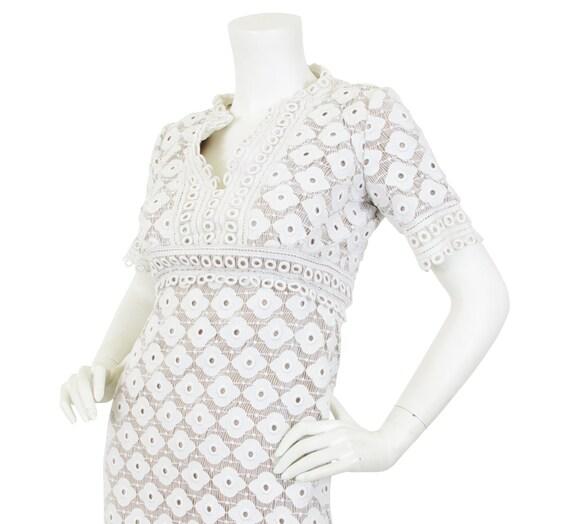 Travilla 1960s Vintage White Dress Sz XS / Designe