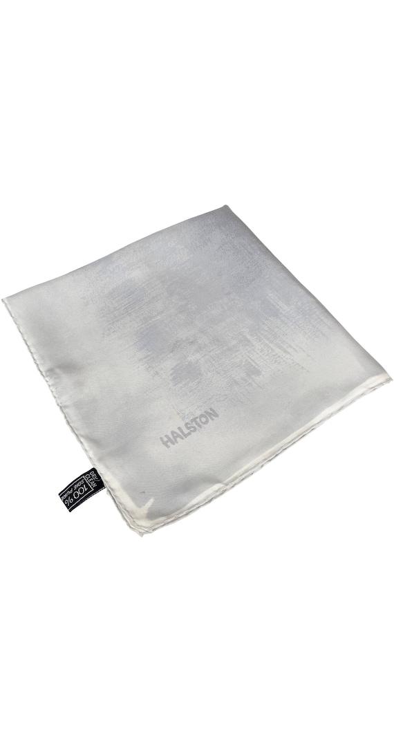 Halston 1970s Vintage Gray Gradient Silk Twill Sc… - image 2
