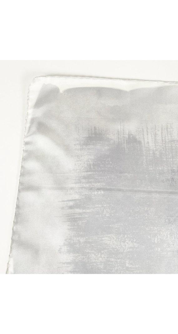 Halston 1970s Vintage Gray Gradient Silk Twill Sc… - image 5