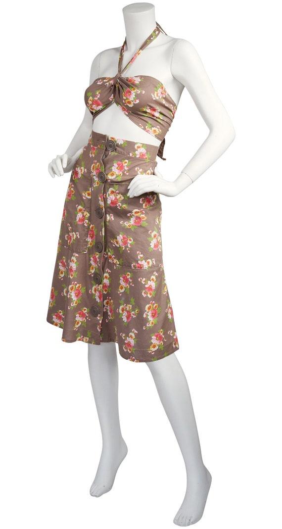 The Market 1970s does 1940s Vintage Floral Cotton