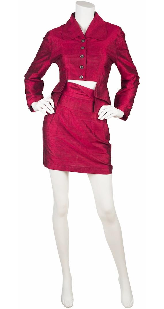 Marie Saint Pierre 1990s Vintage Iridescent Red Ra