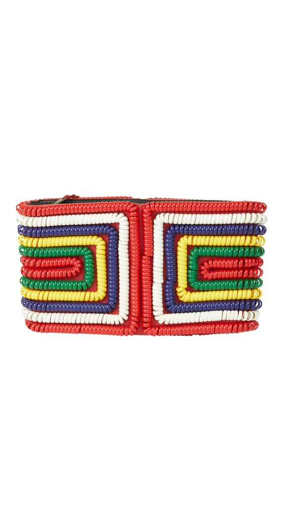 1940s Vintage Multi-Color Telephone Cord Wallet Cl
