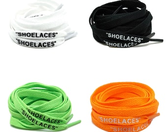 "Flat ""SHOELACES"" Laces -  Off White Inspired Laces The Ten Series - Multiple Colors and Sizes Available - Jordan - Air - Nike"